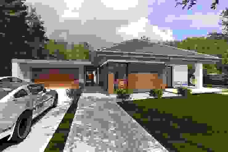 Domy z wejściem od południa Klasyczne domy od ABC Pracownia Projektowa Bożena Nosiła - 1 Klasyczny