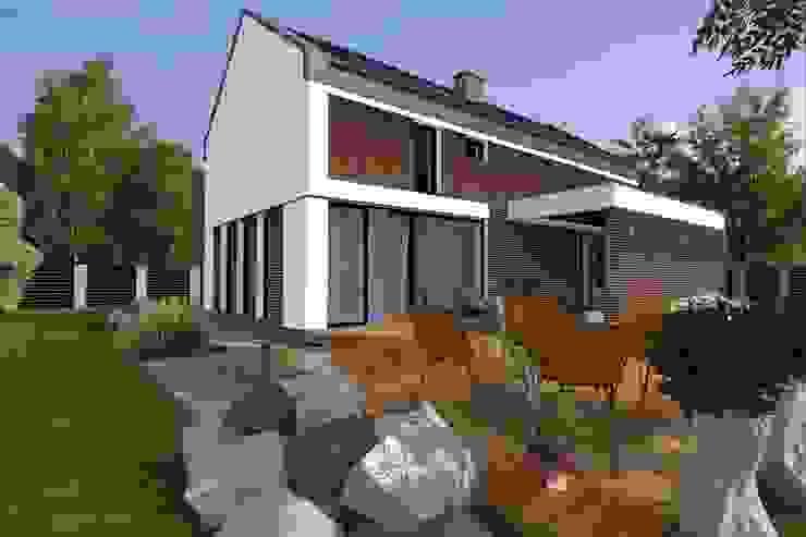 Domy z wejściem od południa Nowoczesne domy od ABC Pracownia Projektowa Bożena Nosiła - 1 Nowoczesny