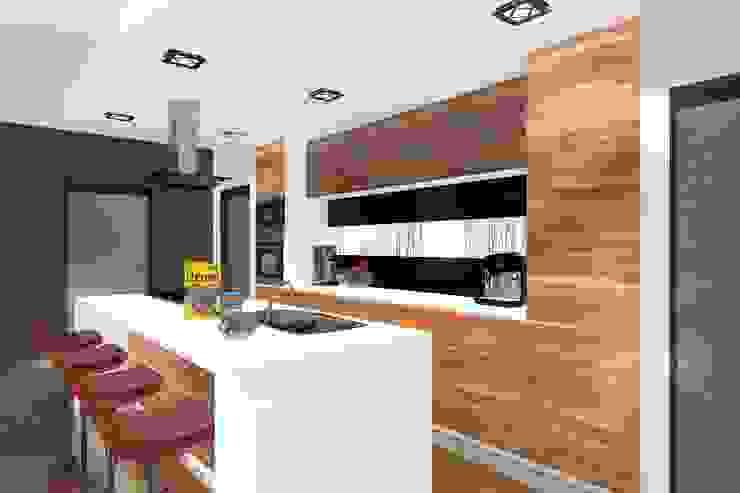 DZP-9 – dom energooszczędny i pasywny Minimalistyczna kuchnia od ABC Pracownia Projektowa Bożena Nosiła - 1 Minimalistyczny