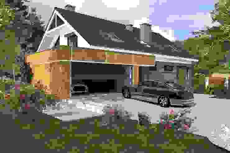 DZP-9 - dom energooszczędny i pasywny Klasyczne domy od ABC Pracownia Projektowa Bożena Nosiła - 1 Klasyczny