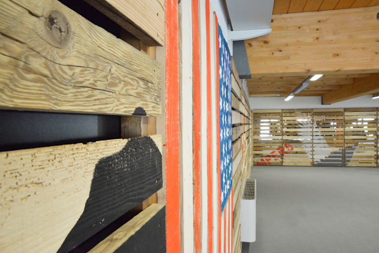 Rustic style offices & stores by RI-NOVO Rustic