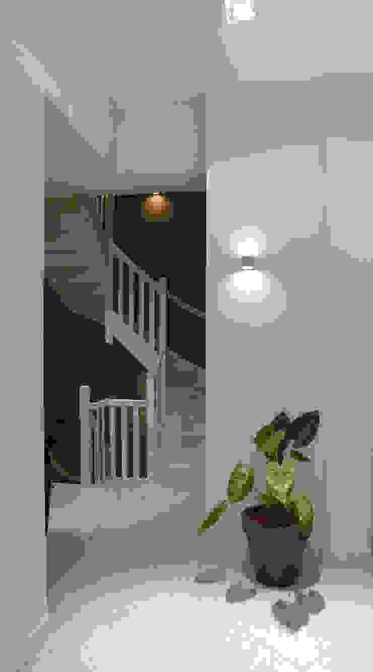 Nowoczesny korytarz, przedpokój i schody od Brand Olink Architecten Nowoczesny