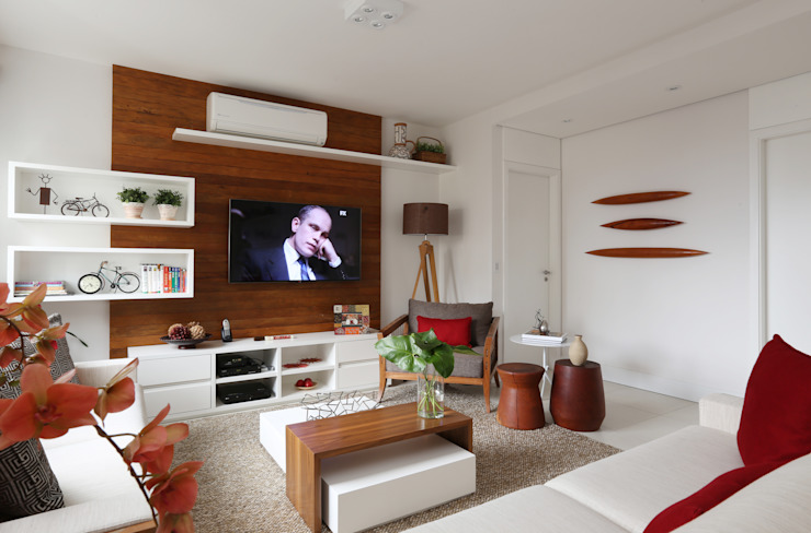 Living: Salas de estar  por Duda Senna Arquitetura e Decoração