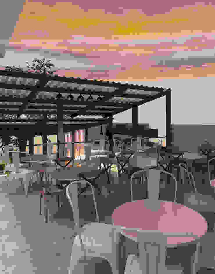 Terraza Gastronomía de estilo industrial de Interiorista Teresa Avila Industrial
