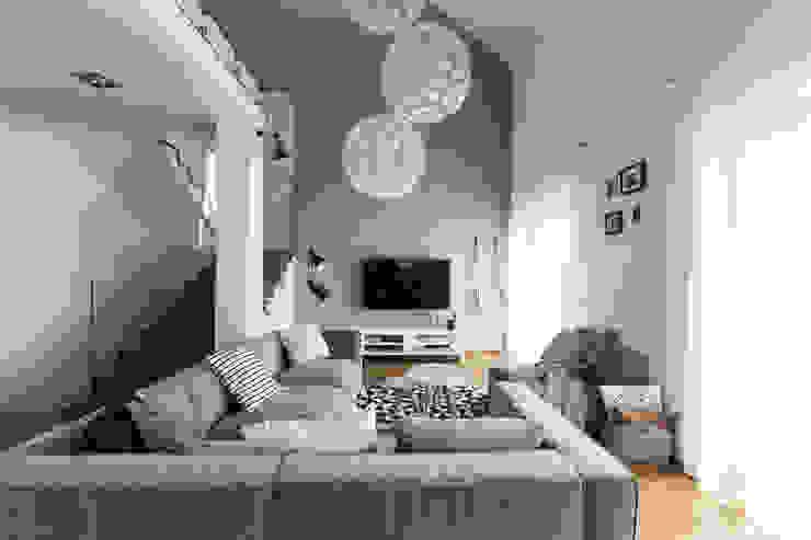 스칸디나비아 거실 by www.niewformie.pl 북유럽