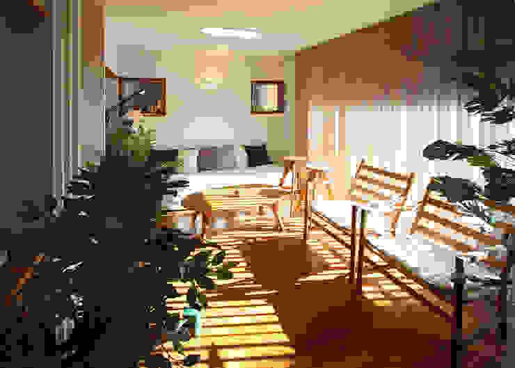 リビング: 遠藤浩建築設計事務所 H,ENDOH  ARCHTECT  &  ASSOCIATESが手掛けたリビングです。,モダン