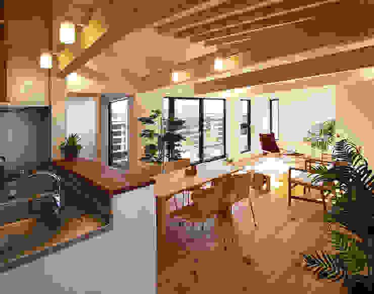 2階子世帯 モダンデザインの リビング の 遠藤浩建築設計事務所 H,ENDOH ARCHTECT & ASSOCIATES モダン