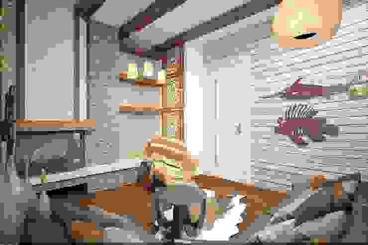 Спальня охотника и рыболова Спальня в рустикальном стиле от Veronika Brown Studio Рустикальный
