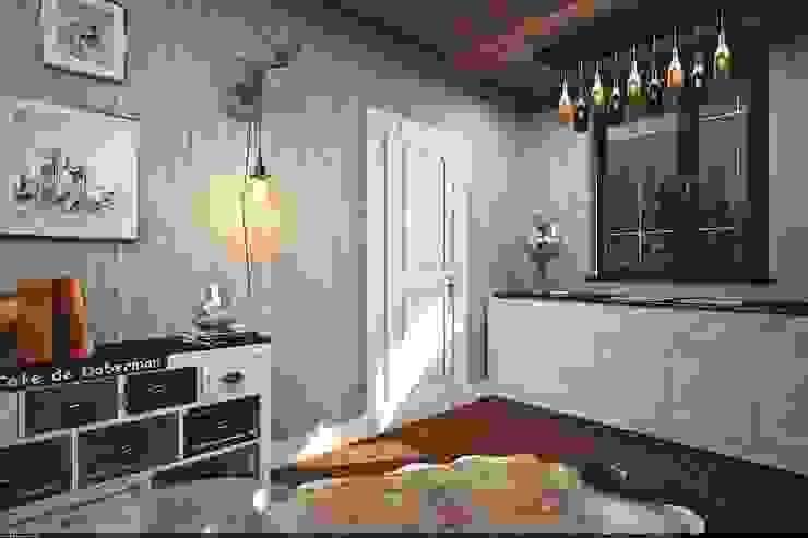 Шале в подмосковье Балкон и терраса в рустикальном стиле от Veronika Brown Studio Рустикальный