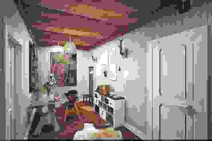 Столовая Гостиная в рустикальном стиле от Veronika Brown Studio Рустикальный