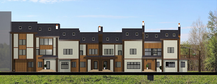 Общий фасад. 4 тауна Дома в стиле кантри от Veronika Brown Studio Кантри