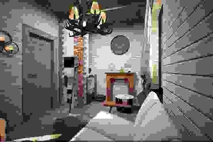 Коридор и рекреация Коридор, прихожая и лестница в рустикальном стиле от Veronika Brown Studio Рустикальный