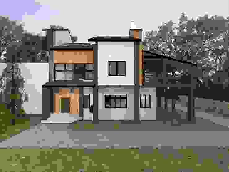 Фасад первого дома. Первые эскизы Дома в стиле кантри от Veronika Brown Studio Кантри