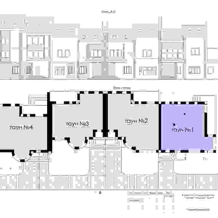 План и развертка Дома в стиле кантри от Veronika Brown Studio Кантри