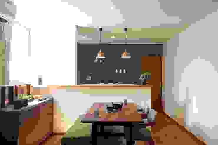 Comedores de estilo moderno de zuiun建築設計事務所 / 株式会社 ZUIUN Moderno