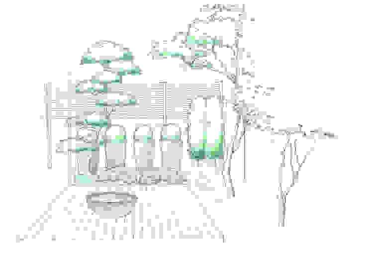 courtyard N6 Moderne Praxen von 山越健造デザインスタジオ Kenzo Yamakoshi Design Studio Modern