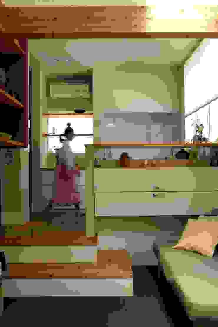 9坪ハウス+α 北欧デザインの リビング の nido architects 古松原敦志一級建築士事務所 北欧