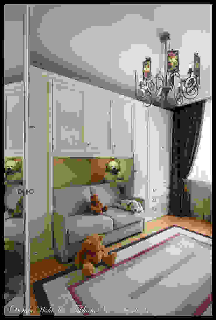 Cовременный интерьер с художественными деталями. Спальня в классическом стиле от D&T Architects Классический