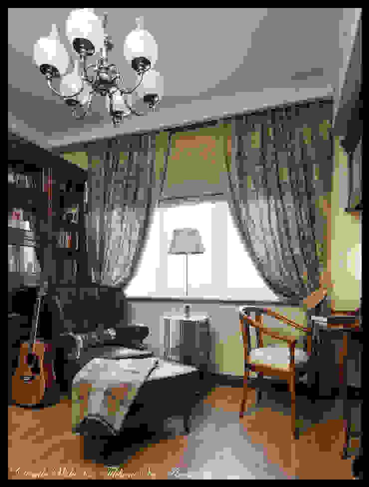 Квартира в стиле классического Арт Нуво Рабочий кабинет в стиле модерн от D&T Architects Модерн