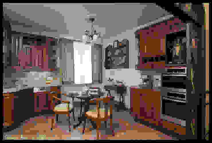 Квартира в стиле классического Арт Нуво Кухня в стиле модерн от D&T Architects Модерн