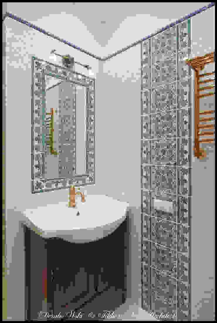 Квартира в стиле классического Арт Нуво Ванная в колониальном стиле от D&T Architects Колониальный