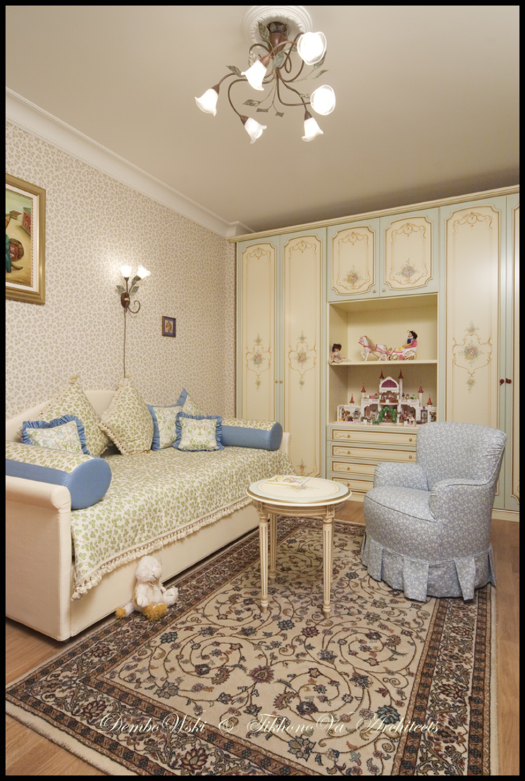 Квартира в стиле классического Арт Нуво Детская комнатa в классическом стиле от D&T Architects Классический