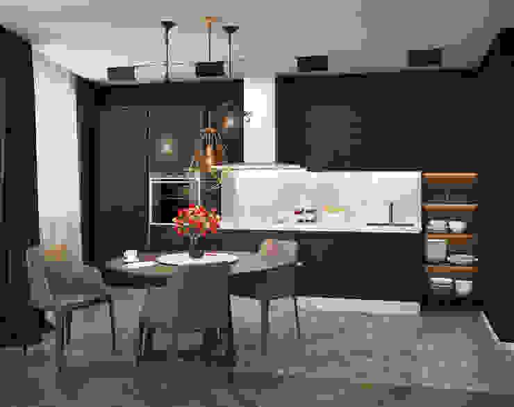 Verge of luxury Кухни в эклектичном стиле от VAE DESIGN GROUP™ Эклектичный