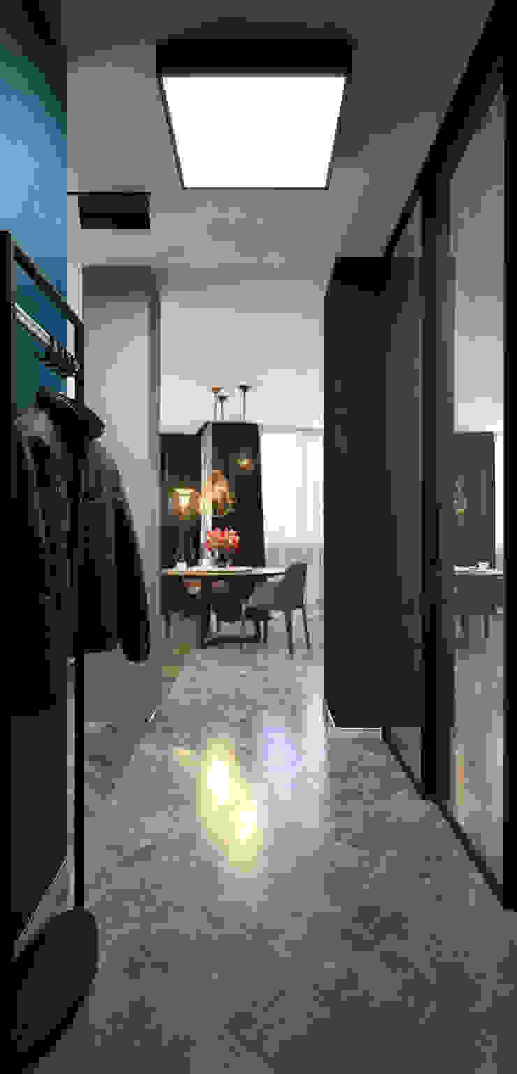 Verge of luxury Коридор, прихожая и лестница в эклектичном стиле от VAE DESIGN GROUP™ Эклектичный