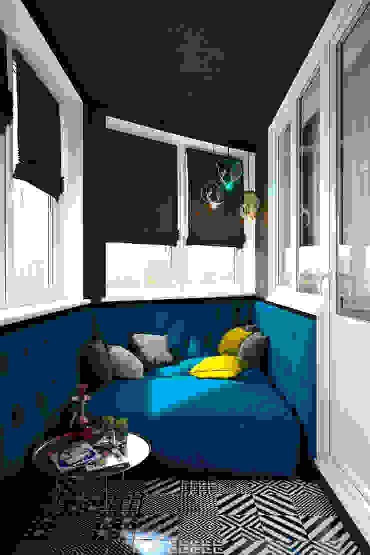 Verge of luxury Балконы и веранды в эклектичном стиле от VAE DESIGN GROUP™ Эклектичный
