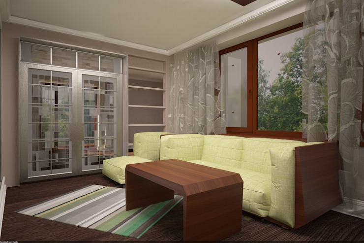 Дизайн интерьера п.FamilyClub Коридор, прихожая и лестница в скандинавском стиле от Veronika Brown Studio Скандинавский