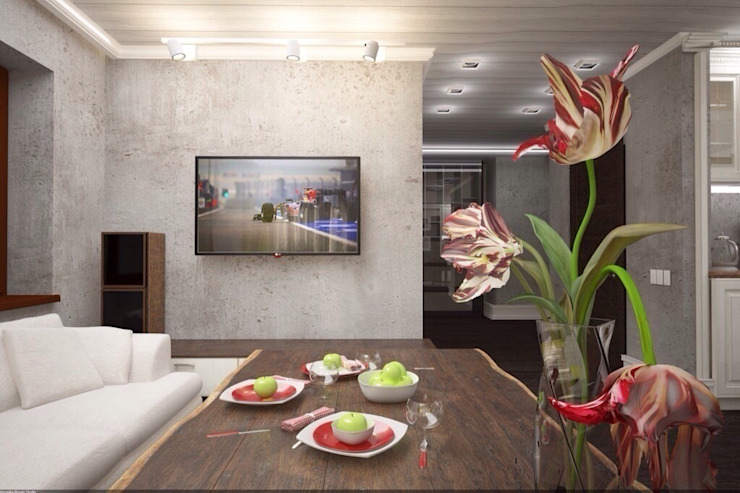 Дизайн интерьера п.FamilyClub Кухня в скандинавском стиле от Veronika Brown Studio Скандинавский