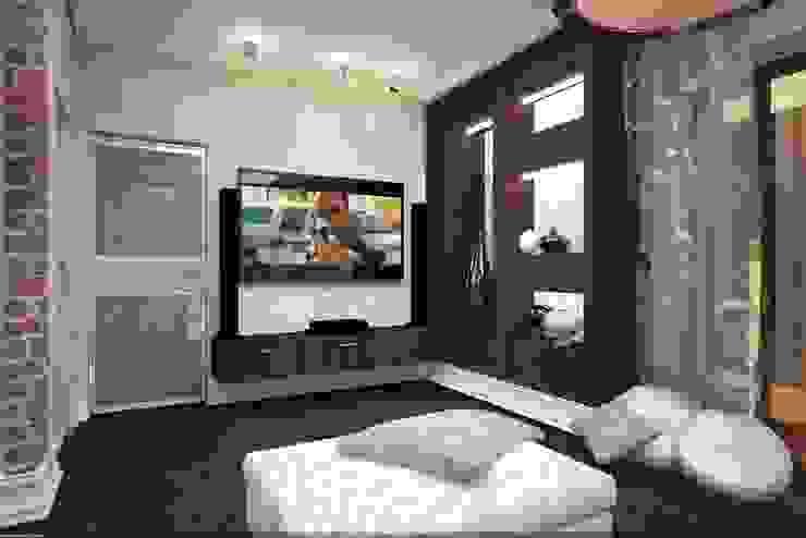 Дизайн интерьера п.FamilyClub Спальня в стиле лофт от Veronika Brown Studio Лофт
