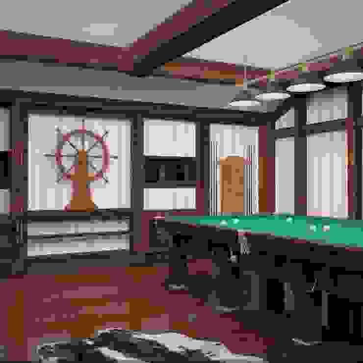 Бильярдная комната в С-Питербурге Медиа комната в колониальном стиле от Veronika Brown Studio Колониальный
