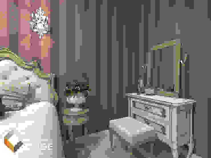 Дизайн спальни загородного дома в романтичном стиле <q>Камея</q> Спальня в классическом стиле от Лаборатория дизайна 'КУБ' Классический