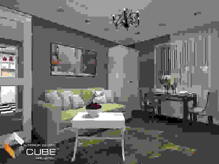 Дизайн малогабаритной квартиры Гостиная в колониальном стиле от Лаборатория дизайна 'КУБ' Колониальный