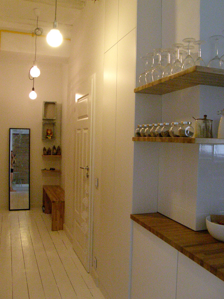 Mint&Brisk Scandinavian style corridor, hallway& stairs