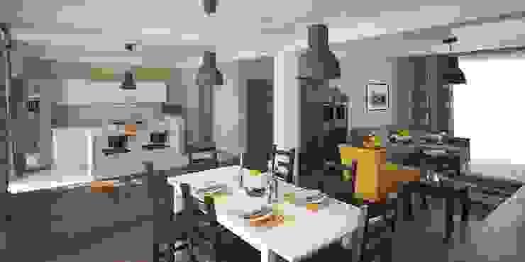 Интерьер таунхауса, 183 кв. м. (3 этажа) Кухня в стиле модерн от Мастерская архитектуры и дизайна FOX Модерн