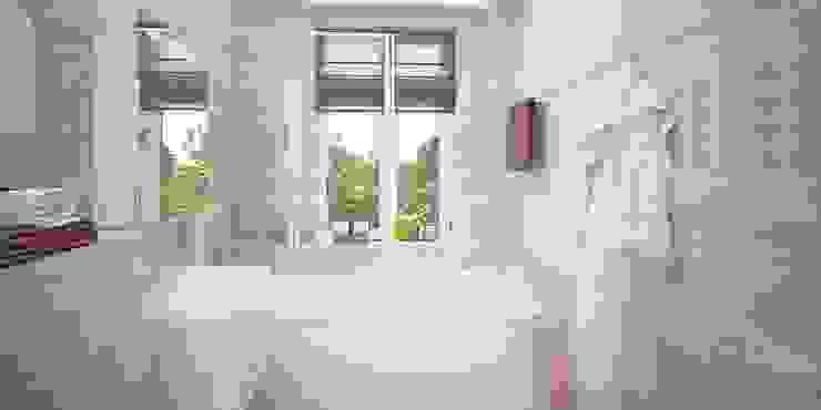 Интерьер таунхауса, 183 кв. м. (3 этажа) Ванная комната в стиле модерн от Мастерская архитектуры и дизайна FOX Модерн