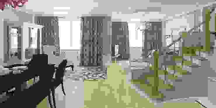 Дизайн-проект таунхауса 300 кв. м. Гостиная в классическом стиле от Мастерская архитектуры и дизайна FOX Классический