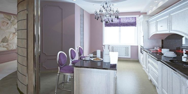 Cucina in stile classico di Мастерская архитектуры и дизайна FOX Classico