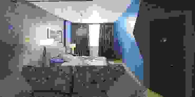 Дизайн-проект таунхауса 300 кв. м. Спальня в стиле минимализм от Мастерская архитектуры и дизайна FOX Минимализм