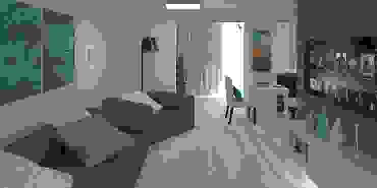 Дизайн-проект квартиры 100 кв. м. Гостиная в стиле модерн от Мастерская архитектуры и дизайна FOX Модерн