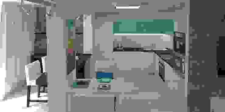 Дизайн-проект квартиры 100 кв. м. Кухня в стиле минимализм от Мастерская архитектуры и дизайна FOX Минимализм