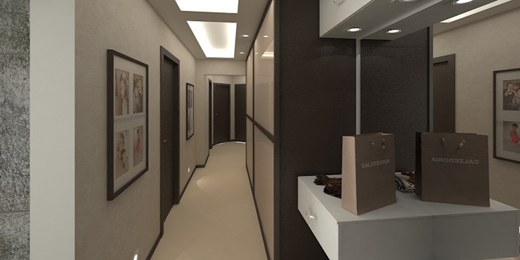 Дизайн-проект квартиры 100 кв. м. Коридор, прихожая и лестница в стиле минимализм от Мастерская архитектуры и дизайна FOX Минимализм