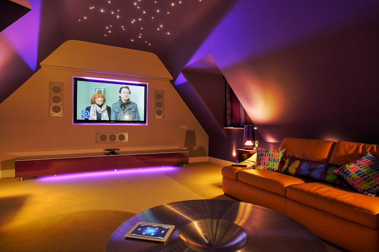 Incredible Loft Cinema Conversion New Wave AV Modern media room