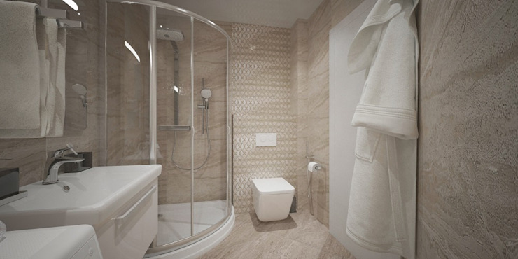 Phòng tắm phong cách hiện đại bởi Мастерская архитектуры и дизайна FOX Hiện đại