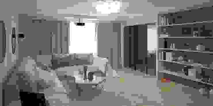 Дизайн-проект однокомнатной квартиры Гостиная в классическом стиле от Мастерская архитектуры и дизайна FOX Классический