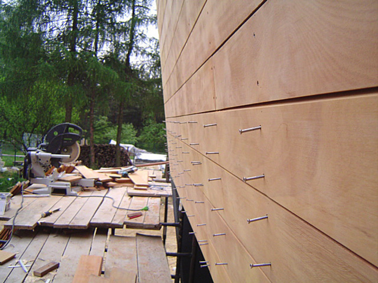 Taras drewniany i elewacja drewniana. Realizacja w Rybniku. od PHU Bortnowski Nowoczesny
