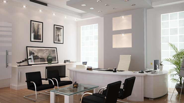 Cice Chairman of the Board Room ROAS ARCHITECTURE 3D DESIGN AGENCY Modern