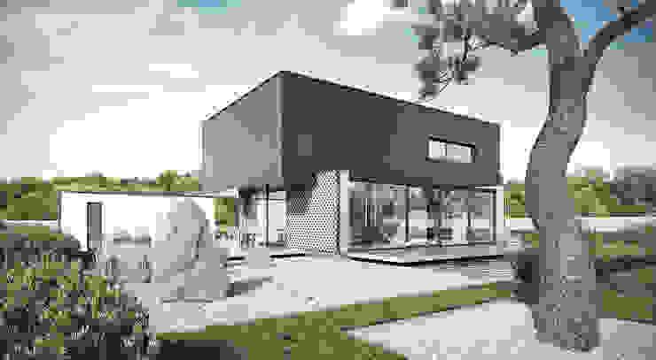 ogród: styl , w kategorii Domy zaprojektowany przez ENDE marcin lewandowicz,Minimalistyczny